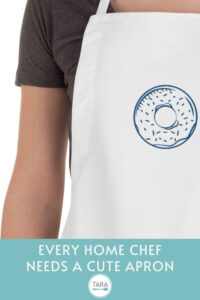Pin Image for Donut Embroidered Apron