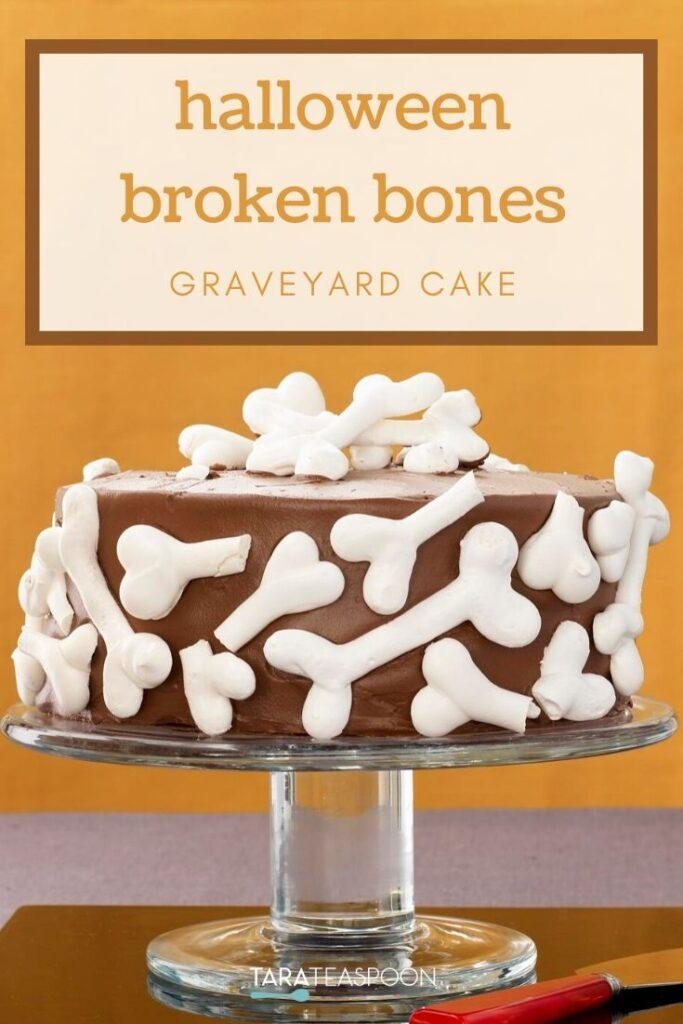 Halloween Broken Bones Graveyard Cake Pinterest Pin