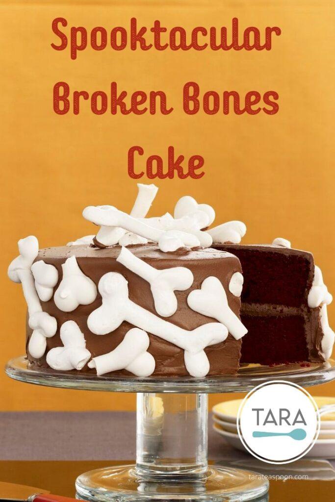 Spooktacular Broken Bones Cake Pinterest Pin