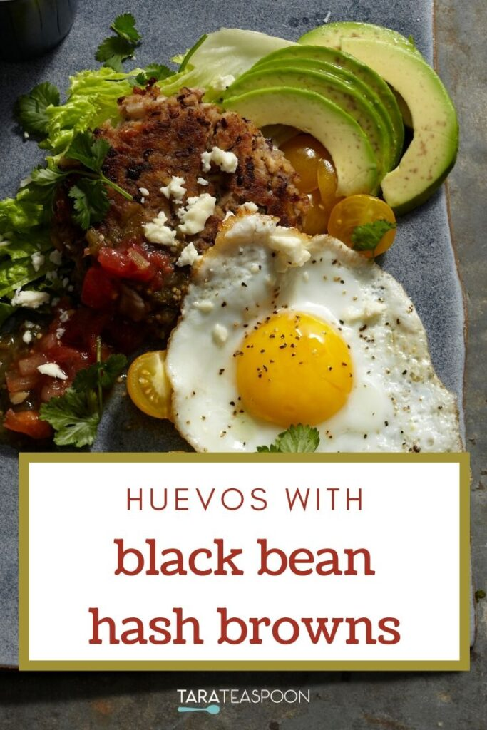 Eggs with Black Bean Hash Browns Pinterest Pin