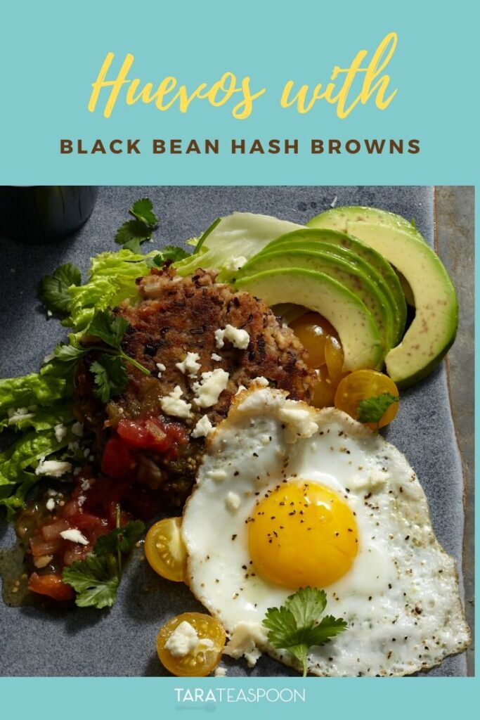 Huevos with Black Bean Hash Browns Pinterest Pin