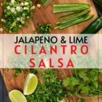 jalapeno lime with cilantro salsa pin