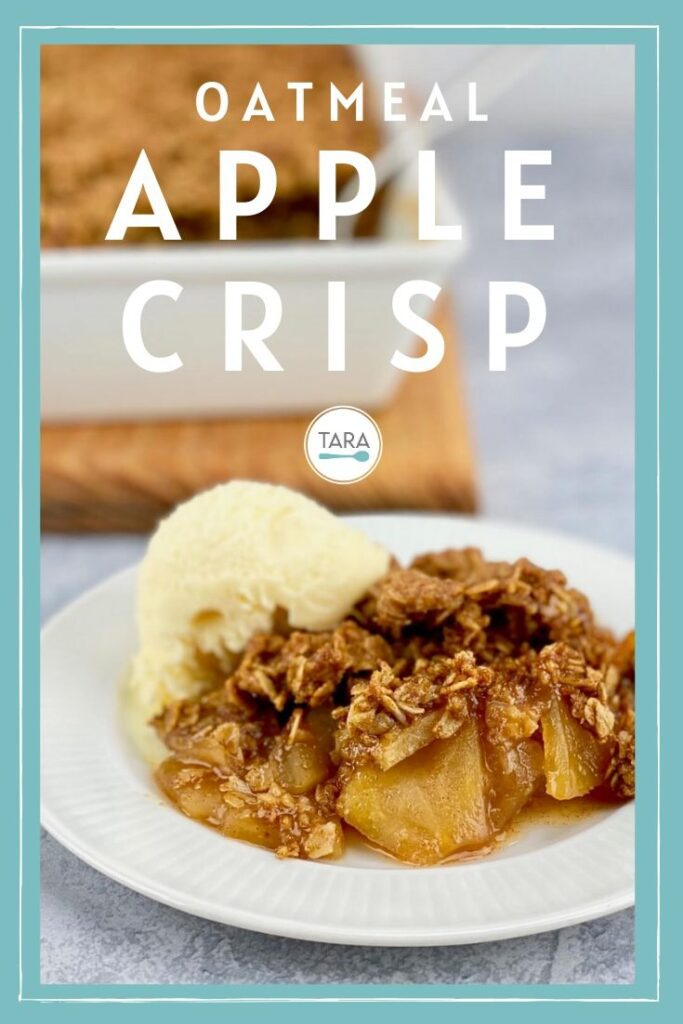 apple crisp with oats recipe pin