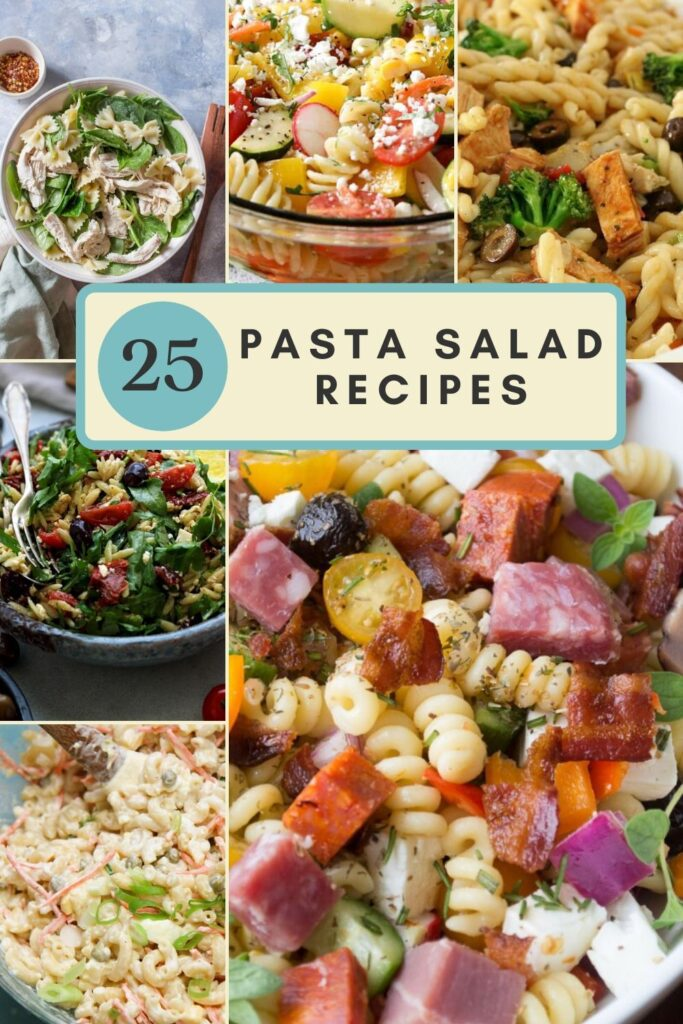 summer pasta salad roundup pin