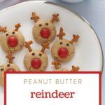 Holiday Peanut Butter Reindeer Cookies Pinterest Pin