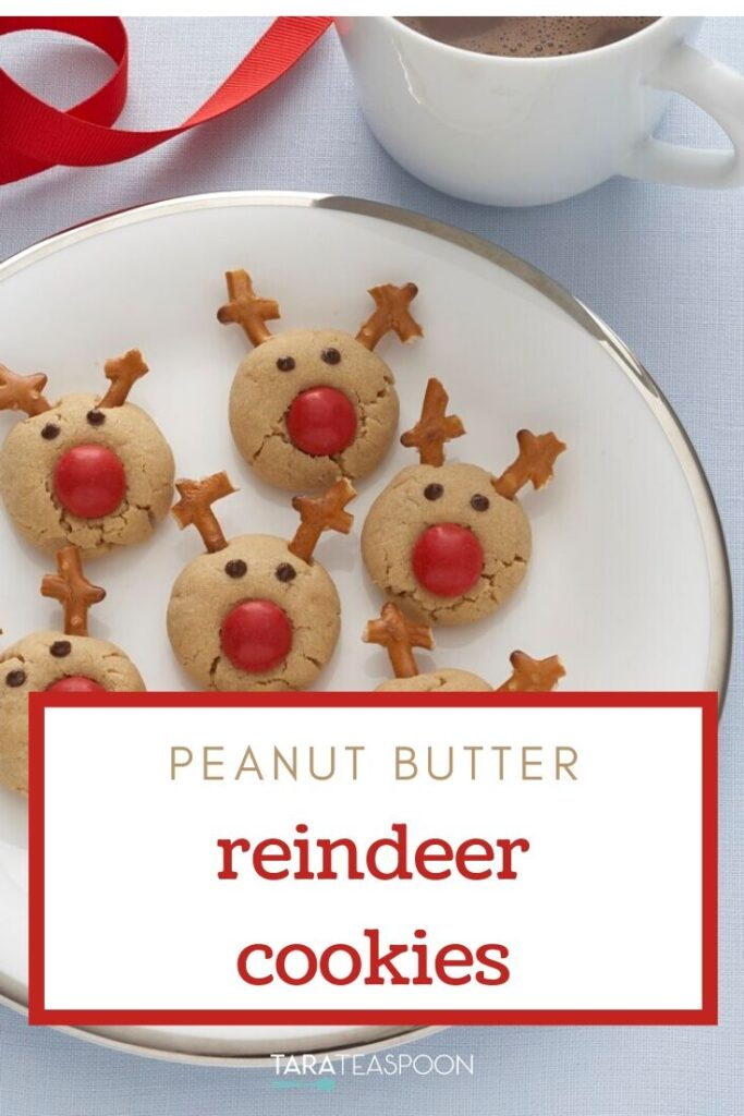 Holiday Peanut Butter Reindeer Cookies Pinterest Pin