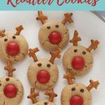 Easy Peanut Butter Reindeer Cookies Pinterest Pin