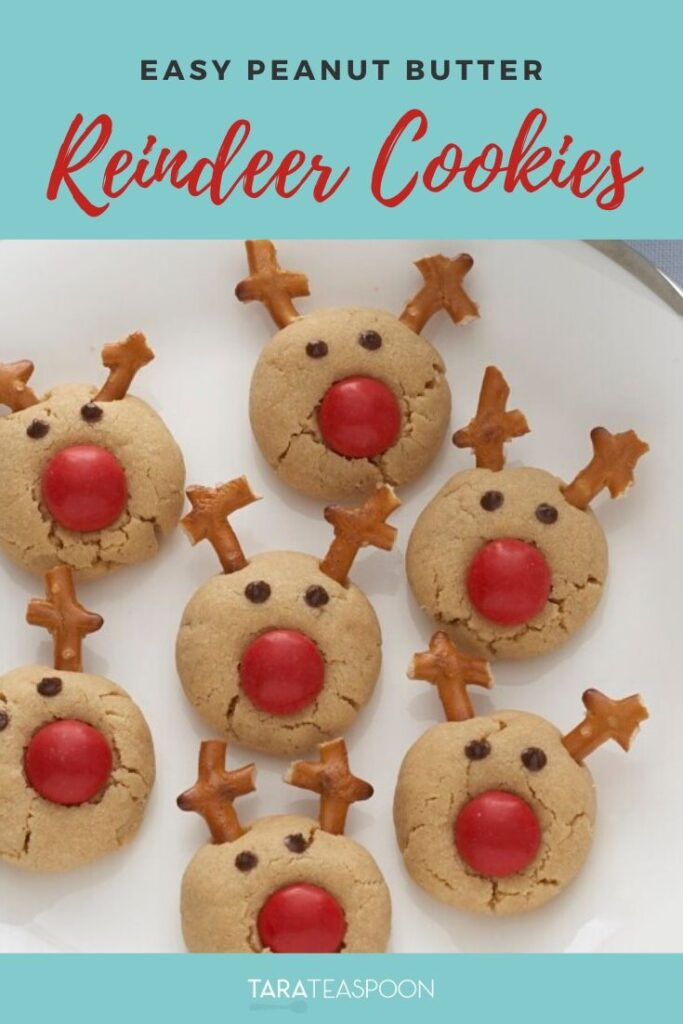 Easy Peanut Butter Reindeer Cookies Pinterest Pin
