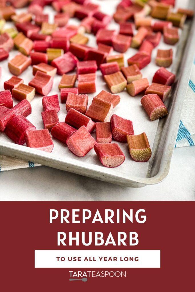 preparing rhubarb pin