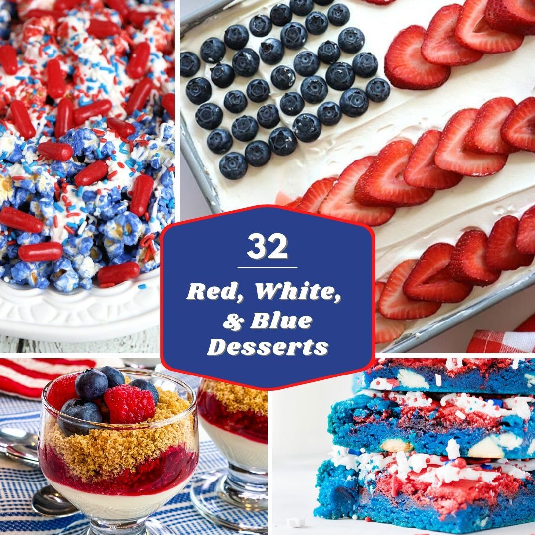 4th of july desserts collage