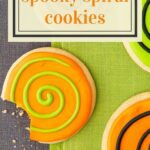Spooky Spiral Cookies Pinterest Pin