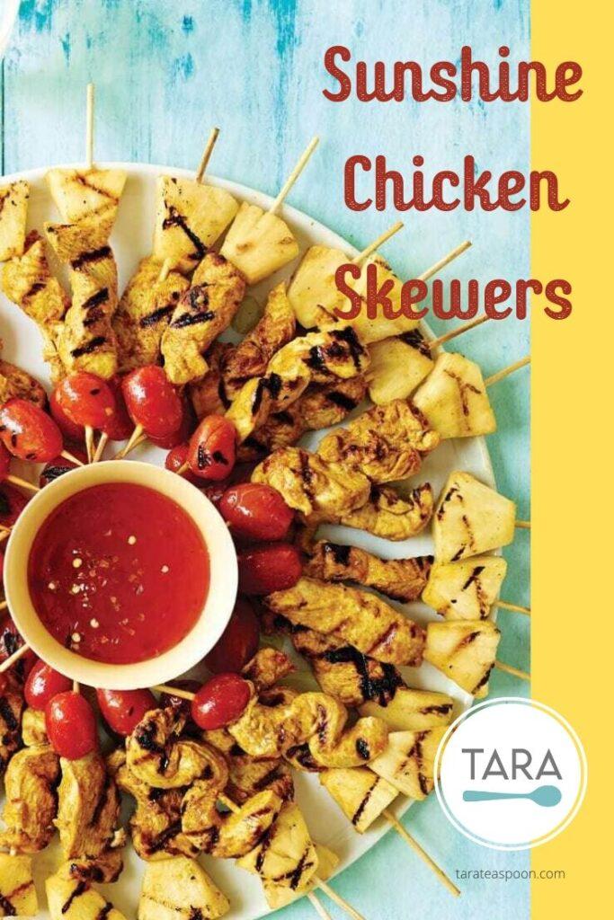 Sunshine Chicken Skewers Pinterest Pin