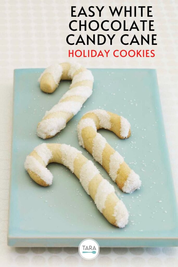 Easy White Chocolate Candy Cane Cookies Pinterest Pin