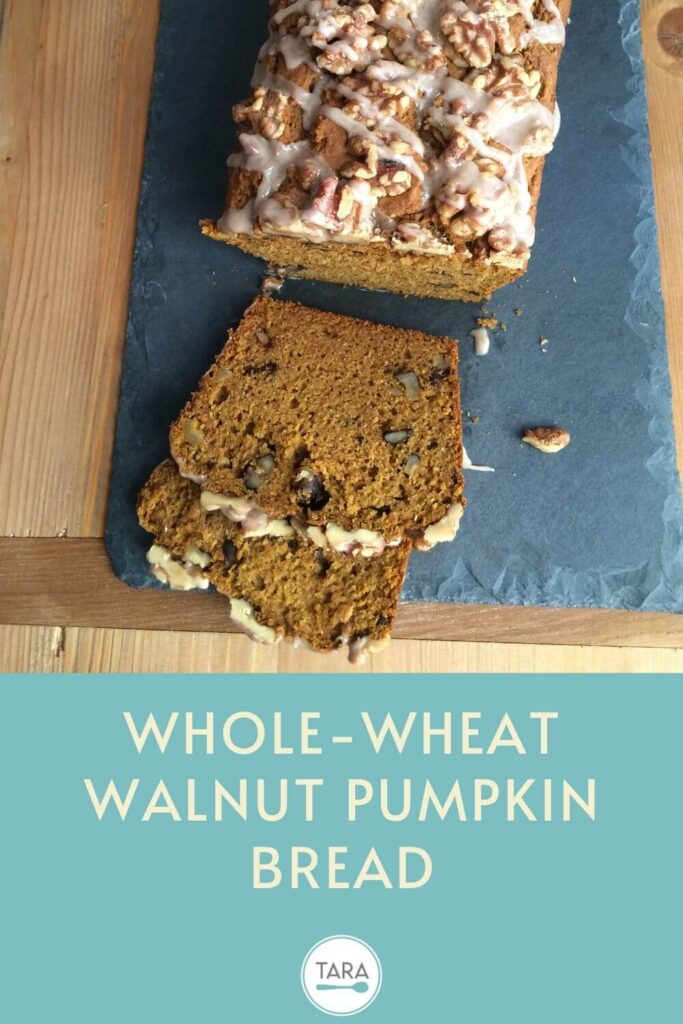 Whole Wheat Walnut Pumpkin Quick Bread Pinterest Pin