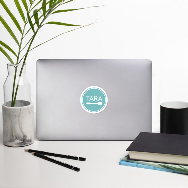 Tara Teaspoon Circle Bubble-free Stickers