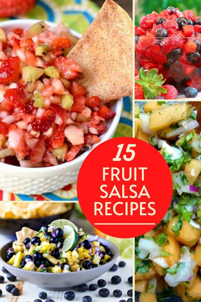 fruit salsa collage image