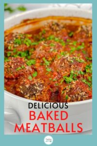 baked porcupine meatballs pin