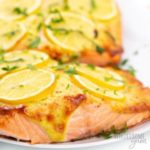 Salmon with Lemon on top