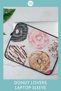 laptop sleeve with donuts