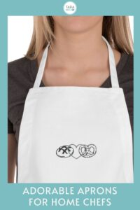 pin for chef aprons with cute logos