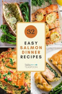 salmon dinner recipes collage pin