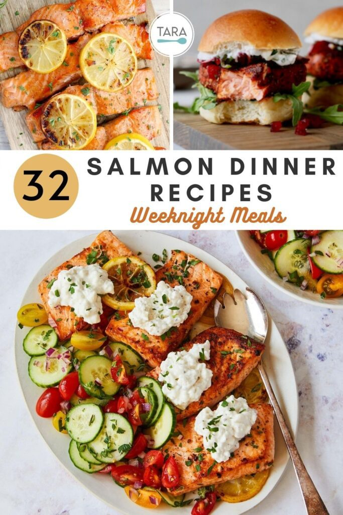 salmon dinner recipes pin