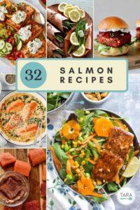 salmon dinner collage pin