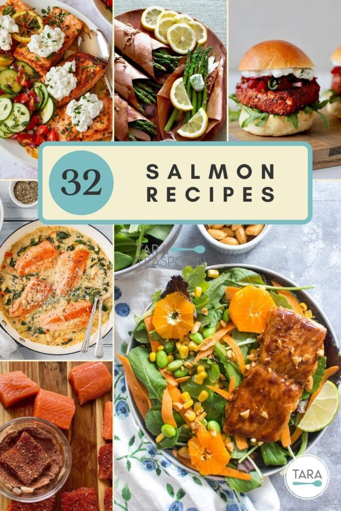 salmon dinner collage pin
