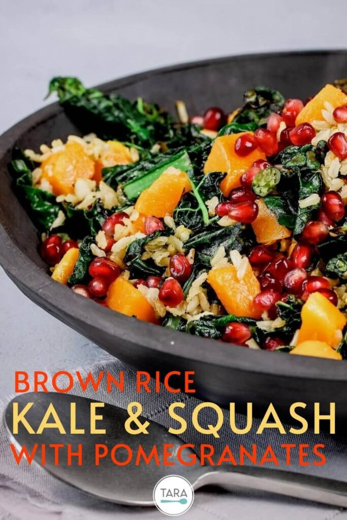 kale and squash salad pin