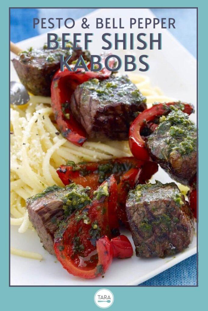 pin for Beef shish kabobs or steak kebabs