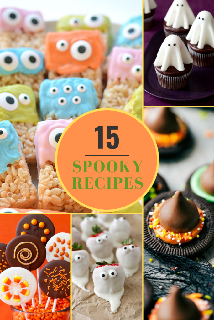 spooky recipes for Halloween pin collage