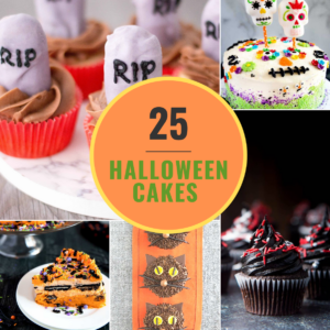 Halloween cakes collage image feature