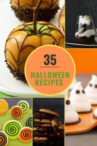 Collage image Halloween treats