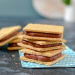 graham cracker cookies filled with chocolate frosting