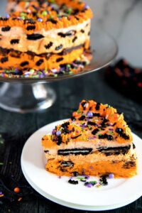 Halloween icebox cake