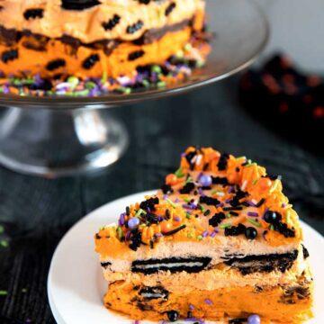 Halloween icebox cake