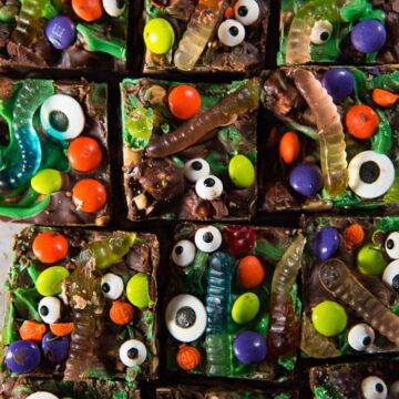 halloween rocky road slices