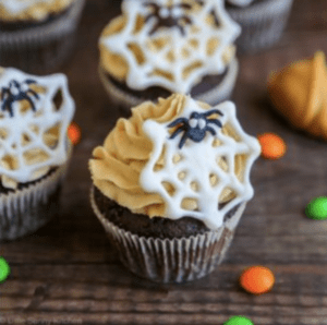 peanut butter spider cupcakes
