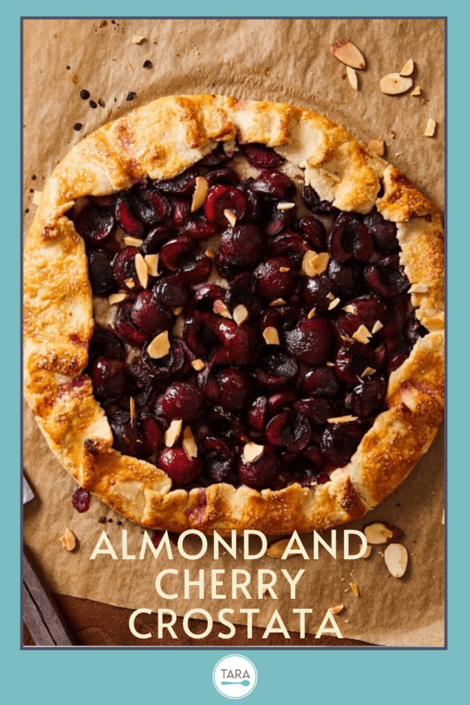 easy almond and cherry rustic pie