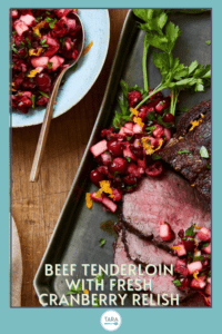 beef tenderloin with cranberry sauce pin