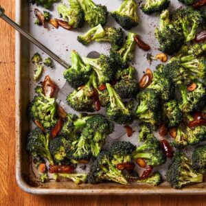 roasted broccoli with dates