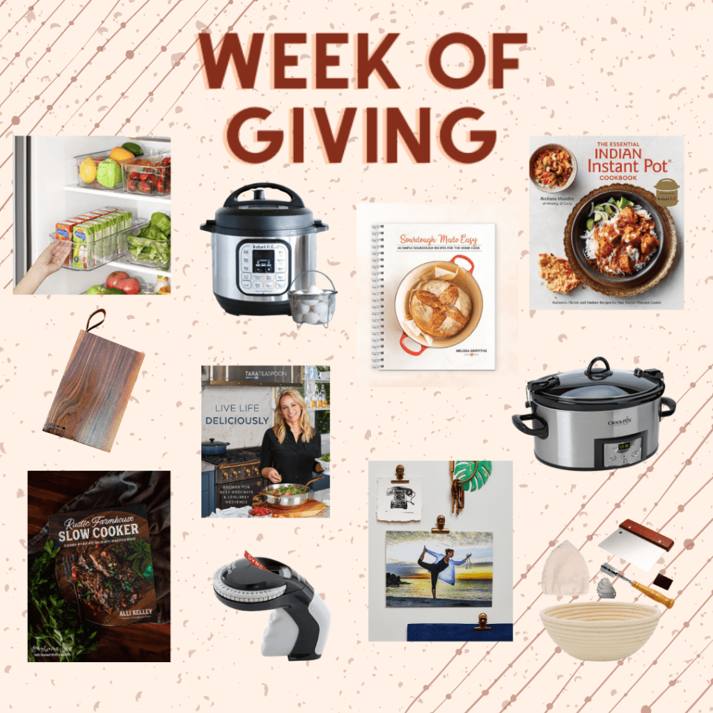 Week of Giving Collage of Prizes