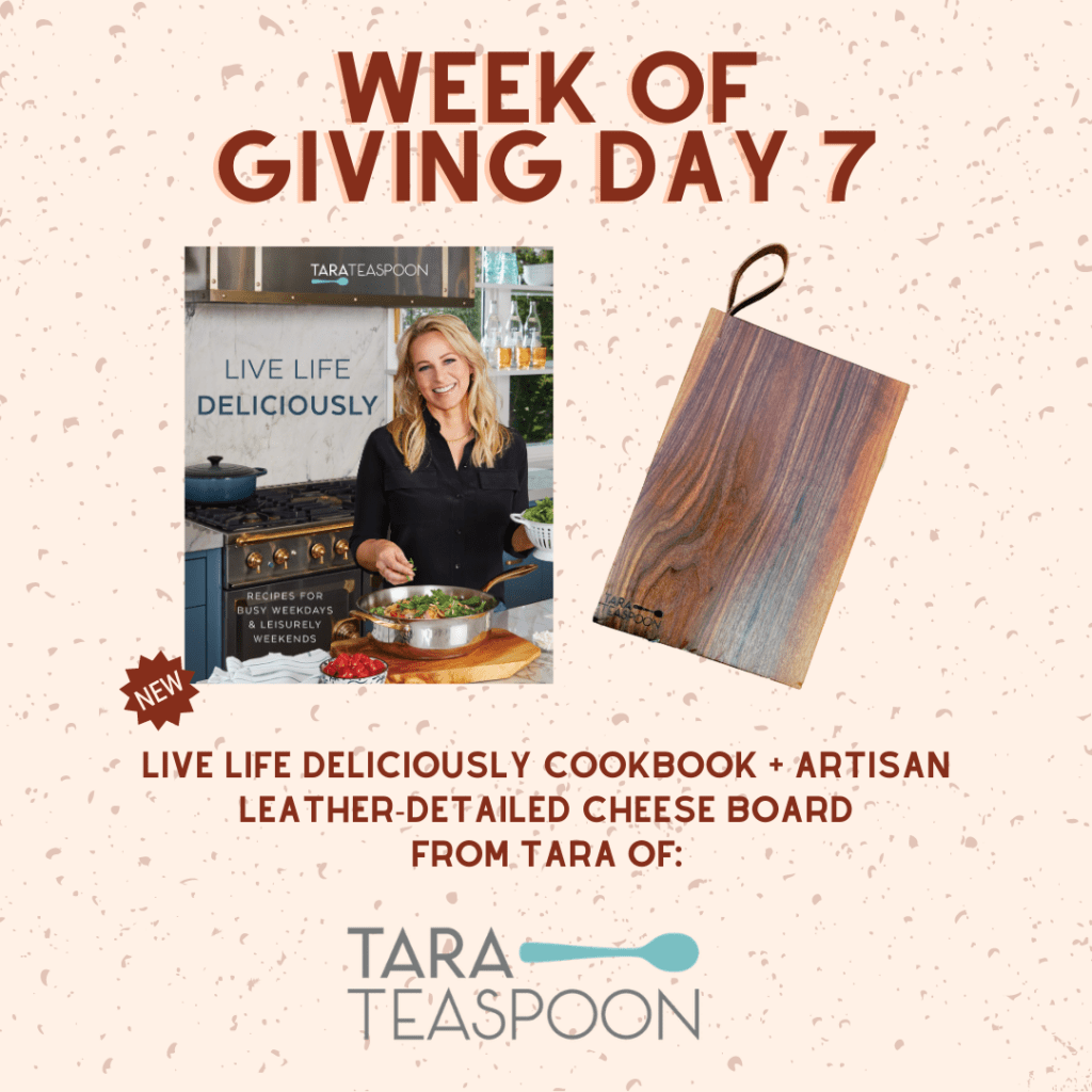 Image of Live Life Deliciously and Tara Teaspoon giveaway