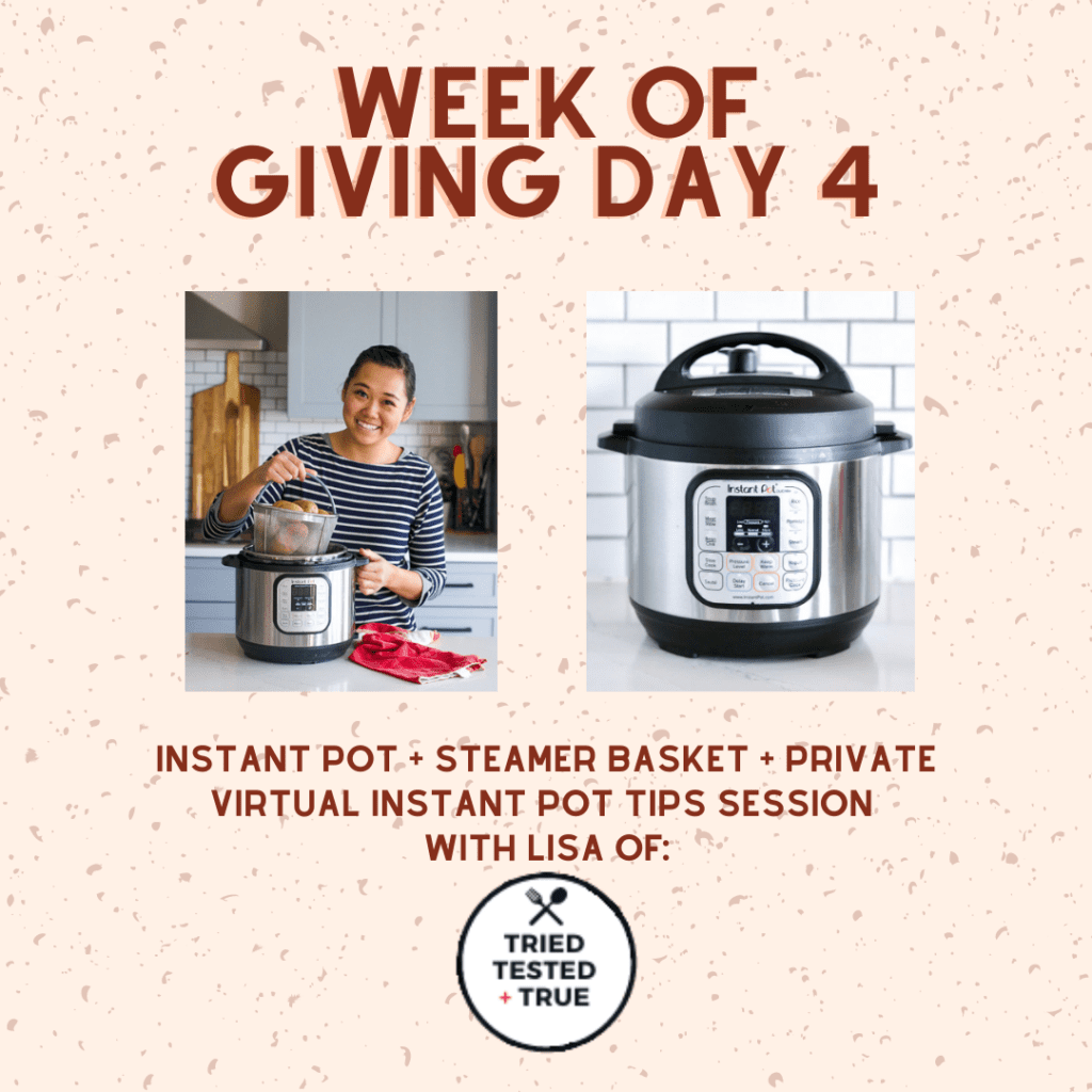 Image of instant pot and basket giveaway