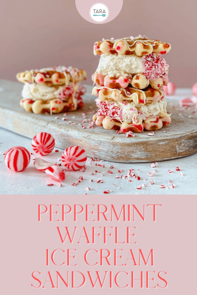 peppermint waffles cookies with ice cream