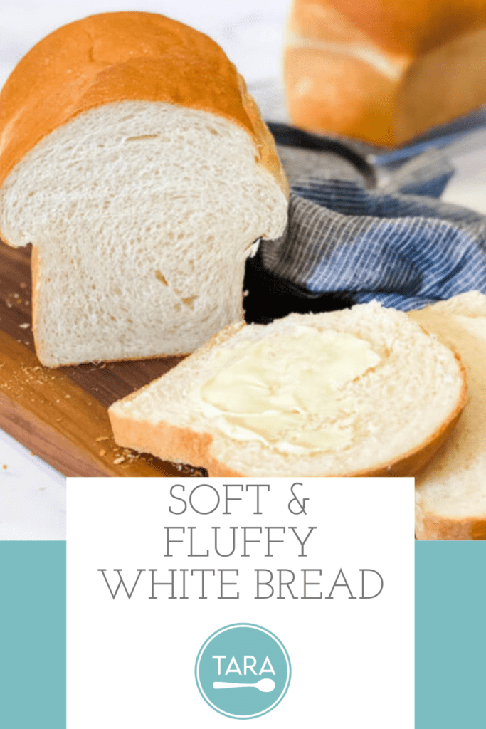Soft and Fluffy White Bread Closeup with Slices Pin