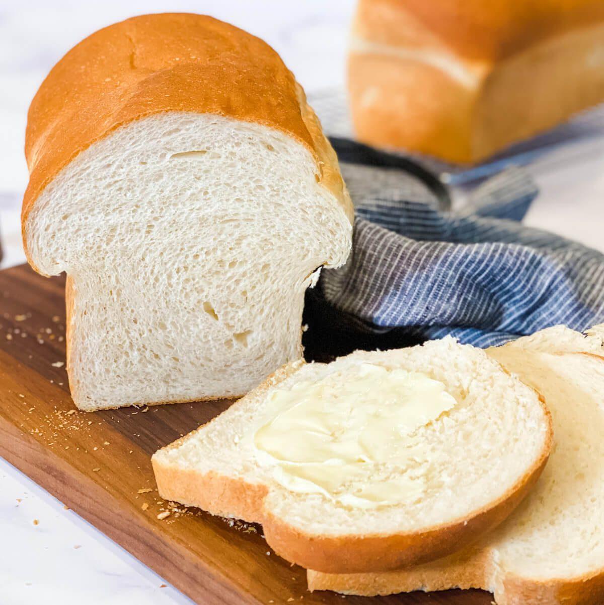 soft fluffy homemade sandwich bread