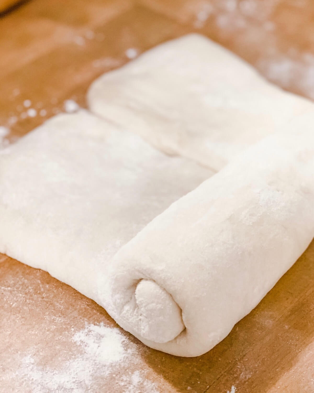 rolling loaf of Japanese milk bread