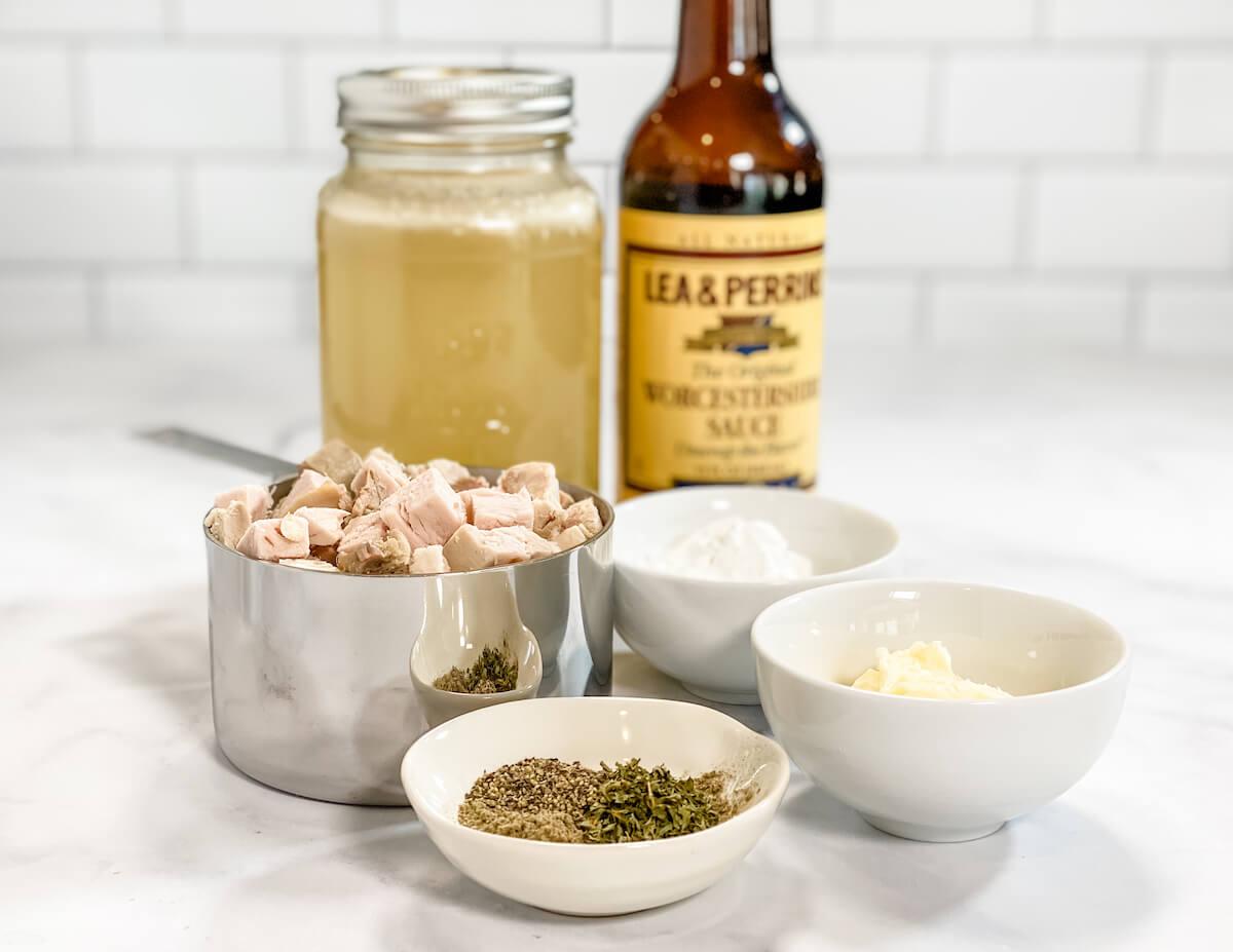 ingredient prep for gravy