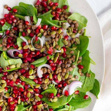 lentil pomegranate salad